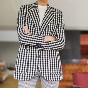 Mango blazer. Black and white gingham.